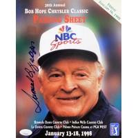 Samuel L. Jackson Signed 1998 Bob Hope Classic Pairing Sheet JSA Authenticated
