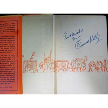 Emmett Kelly Signed Clown My Life in Tatters & Smiles Book JSA Authenticated