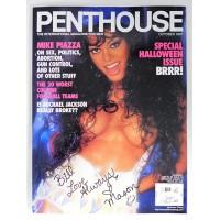 Mason Marconi Signed Penthouse October 1997 Magazine JSA Authenticated