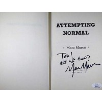 Marc Maron Signed Attempting Normal 1st Hardcover Book JSA Authenticated