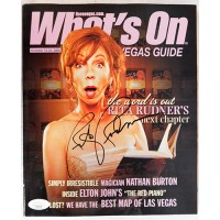 Rita Rudner Actress and Comedian Signed What's On Magazine JSA Authenticated