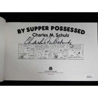 Charles M. Schulz Signed By Supper Possessed Softcover Book JSA Authenticated