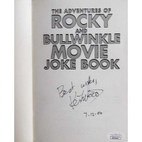 Keith Scott Adventures of Rocky And Bullwinkle Signed Book JSA Authenticated