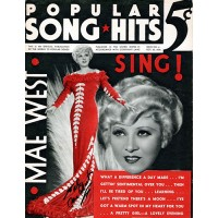 Mae West Signed Popular Song & Hits Magazine 10/20/34 JSA Authenticated