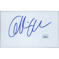 Gillian Anderson X-Files Actress Signed 3x4 3/4 Index Card JSA Authenticated