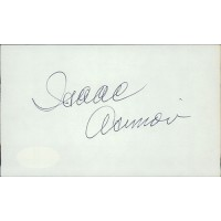 Isaac Asimov Writer Signed 3x5 Index Card JSA Authenticated