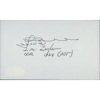 Lloyd M. Bucher USS Pueblo Commander Signed 3x5 Index Card JSA Authenticated