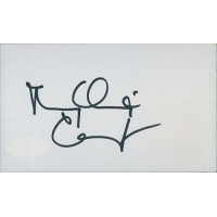 Mary Chapin Carpenter Singer Signed 3x5 Index Card JSA Authenticated