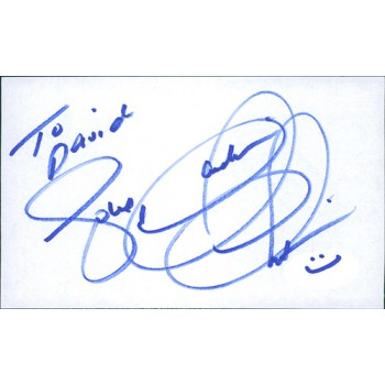 Claudia Christian Actress Signed 3x5 Index Card JSA Authenticated