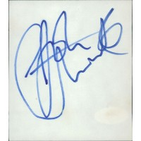 John Entwistle Guitarist The Who Signed 3.5x4 Cut Index Card JSA Authenticated