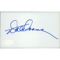 Dale Evans Actress Signed 3x5 Index Card JSA Authenticated