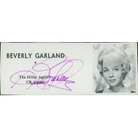 Beverly Garland Actress Signed 2x4.5 Directory Cut JSA Authenticated
