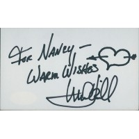 Mark Hamill Star Wars Actor Signed 3x5 Index Card JSA Authenticated