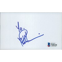 Neil Patrick Harris Signed 3x5 Index Card Beckett Authenticated BAS
