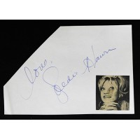 Goldie Hawn Actress Signed 5.25x7.5 Cut Page JSA Authenticated