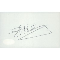Sir Edmund Hillary 1st To Summit Everest Signed 3x5 Index Card JSA Authenticated
