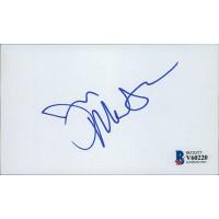 Joe Mantegna Signed 3x5 Index Card Beckett Authenticated BAS