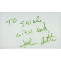John Ritter Actor Signed 3x5 Index Card JSA Authenticated
