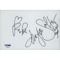 Salt N Pepa Group Signed 4x6 Index Card PSA Authenticated