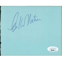 William Shatner Actor Signed 4.5x5.5 Cut Album Page JSA Authenticated