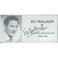 Eli Wallach Actor Signed 2x4 Directory Cut JSA Authenticated