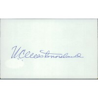 General William Westmoreland Signed 3x5 Index Card JSA Authenticated