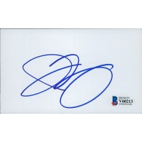 Ian Ziering Signed 3x5 Index Card Beckett Authenticated BAS