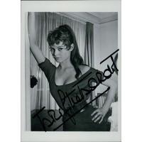 Brigitte Bardot Signed 1983 4.25x6 Postcard JSA Authenticated