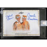 Howard & Carole Baskin Dual Signed Leaf Card Joe Exotic Tiger King Limited 400