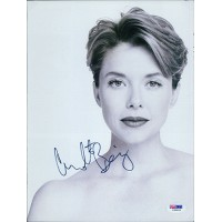 Annette Bening Actress Signed 8.5x11 Magazine Page PSA Authenticated