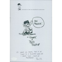 Bud Blake Hand Drawn & Signed Original Tiger Sketch 7x10 JSA Authenticated