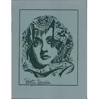 Bette Davis Actress Signed 8.5x11 Card Stock Photo JSA Authenticated