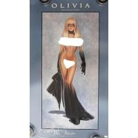 Olivia De Berardinis Signed Masquerade 22x38 Lithograph Art Poster JSA Authentic