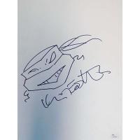Kevin Eastman Teenage Mutant Ninja Turtles Signed 11x14 Sketch JSA Authenticated
