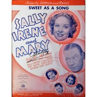 Alice Faye Signed Sweet As A Song Sheet Music JSA Authenticated