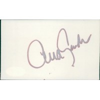 Ava Gardner Actress Singer Signed 3x5 Index Card JSA Authenticated