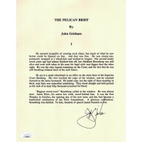 John Grisham The Pelican Brief Signed Souvenir Typescript Page JSA Authenticated