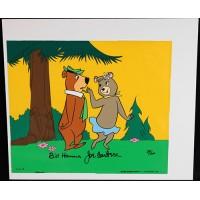 Bill Hanna and Joe Barbera Signed Yogi Bear Animation Cel JSA Authenticated