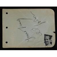 Al Jolson Actor Comedian Singer Signed 4.5x6 Album Page JSA Authenticated