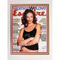 Ashley Judd Actress Signed Matted Magazine Page JSA Authenticated