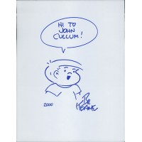 Bil Keane Family Circus Cartoonist Signed 8.5x11 Page Sketch JSA Authenticated