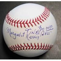 Margaret Kerry Signed Tinker Bell Disney MLB Baseball JSA Authenticated Error