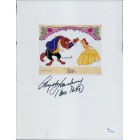 Angela Lansbury Signed 8.5x11 Card Stock W/ 4x5 Stamp Label JSA Authenticated
