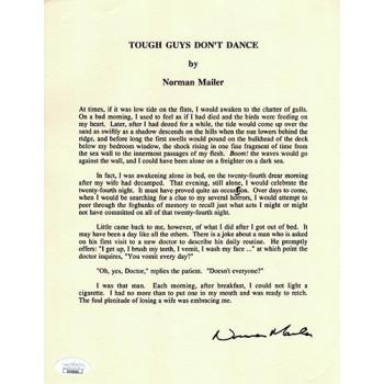 Norman Mailer Tough Guys Dont Dance Signed Souvenir Typescript JSA Authenticated