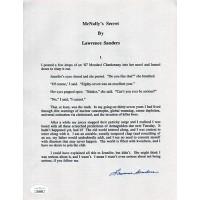 Lawrence Sanders McNally's Secret Signed Souvenir Typescript JSA Authenticated
