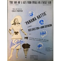 Ann Sothern Signed The Son Of A Gun Who Picks On Uncle Sam Sheet Music JSA Authenticated