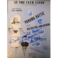 Ann Sothern Signed At The Club Savoy Sheet Music JSA Authenticated