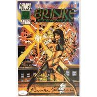 Brinke Stevens Signed Chaos 1994 Brinke of Eternity #1 Comic JSA Authenticated