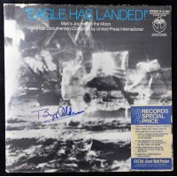 Buzz Aldrin Signed Eagle Has Landed Record LP Album JSA Authenticated