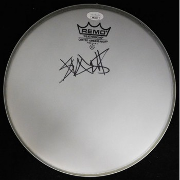 Travis Barker Blink 182 Signed Remo 10 inch Drumhead JSA Authenticated